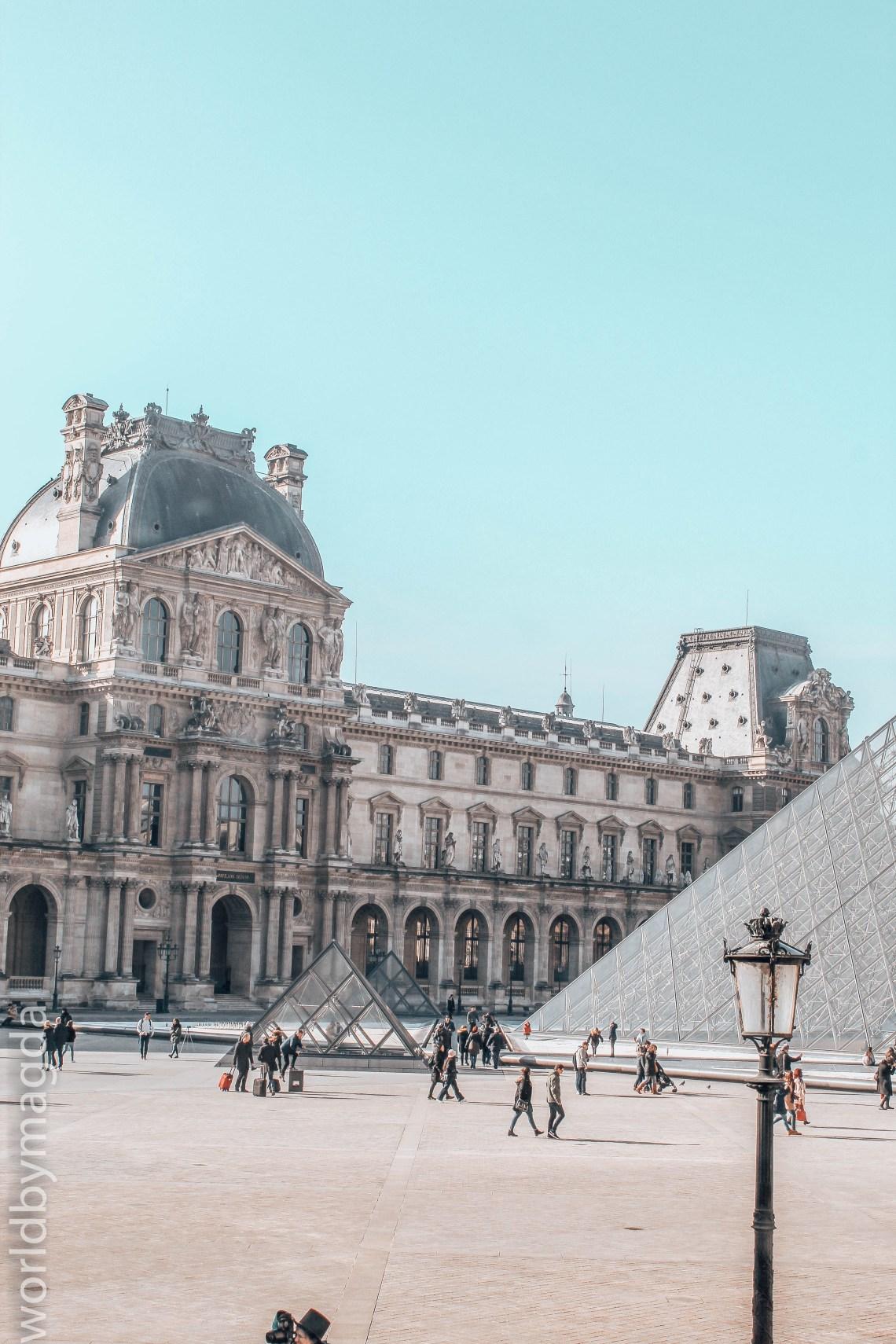 Louvre, Pavilon Richelieu with the Pyramid