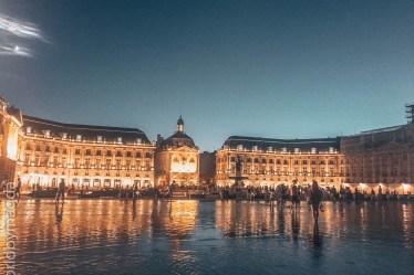 Le Miroir d'Eau czyli Lustro Wody w Bordeaux
