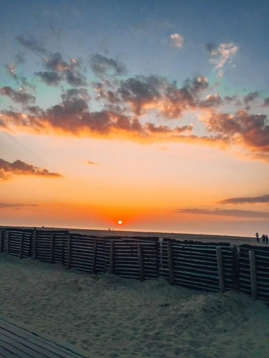 Zachód słońca w Deauville