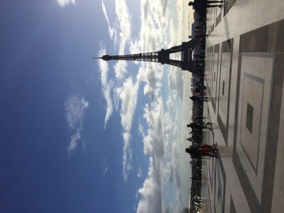 Trocadero i widok na Wieżę Eiffla