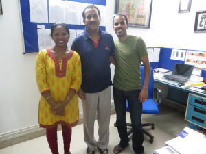 With Santosh at the DF Office.