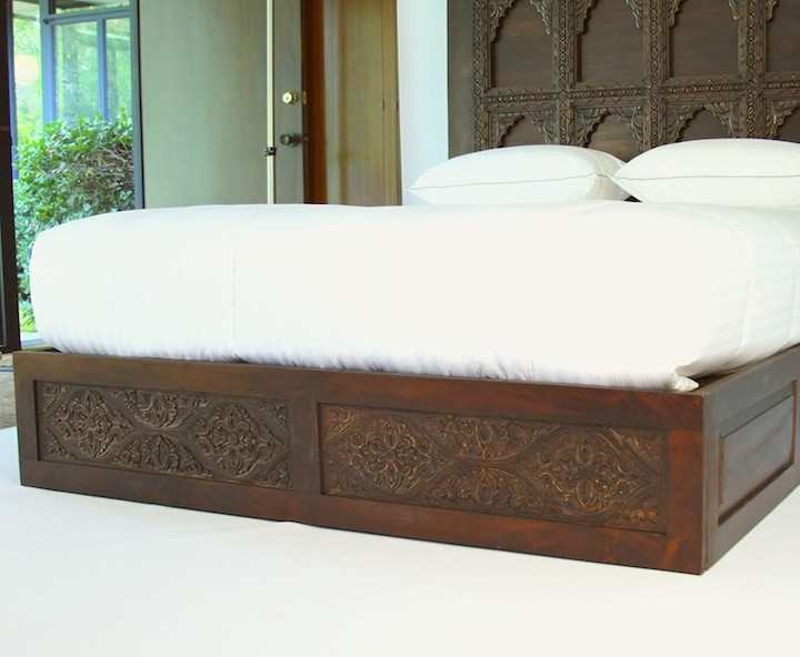 Hand Carved Bed Frame Queen Cal King And Standard King