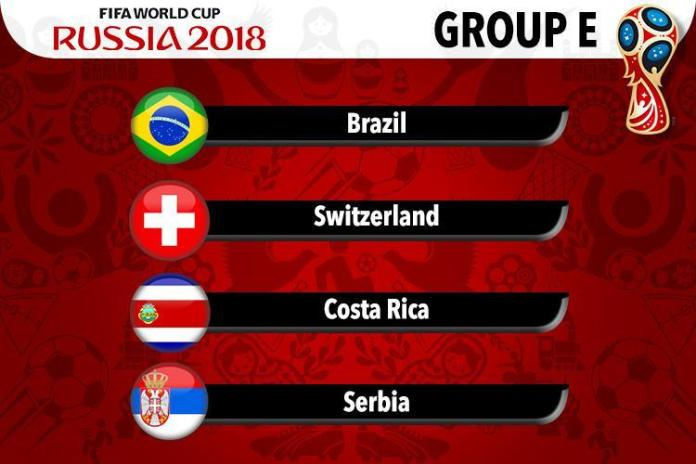 Brazil 2018 FIFA World Cup fixtures