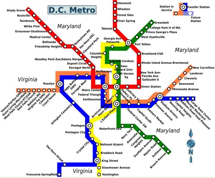 Map Washington Dc Metro