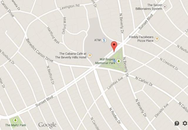 Sunset Blvd Los Angeles Map
