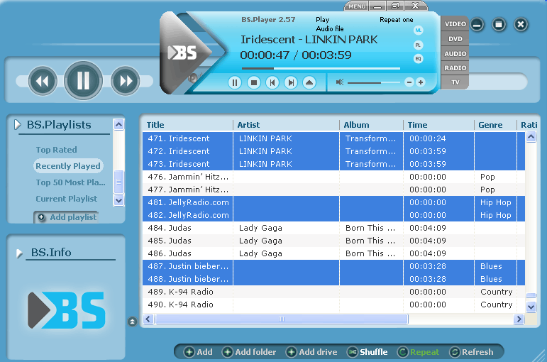 BS.Player Pro 2.72 Build 1082
