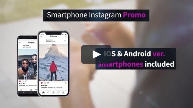 Smartphone Instagram Promo Premiere Pro Templates free download