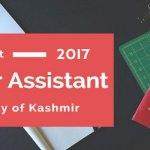 Kashmir University Recruitment For Junior Research Fellow