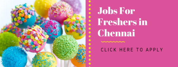 jobs for freshers in chennai