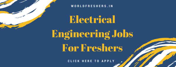 electrical engineering jobs for freshers