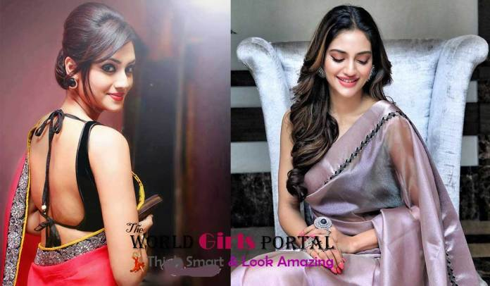 Mp Nusrat Jahan Gorgeous Gray saree photoshoot Bollywood Actress