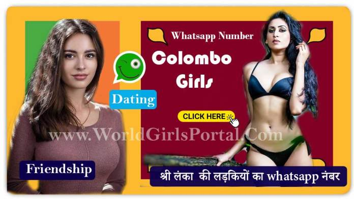 Colombo Girls Whatsapp Number for Dating & Chat | Sri Lanka Ladkiyon Ke Mobile No WGP