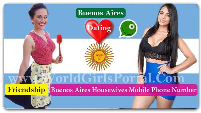 Buenos Aires Housewives Mobile Phone Number for Dating - Argentina Girls