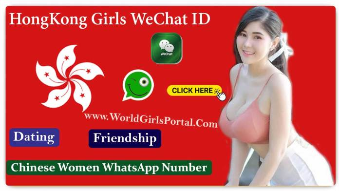 Hong Kong Girls WeChat ID Numbers for Friendship, Women seeking Men Near By You - China Girls