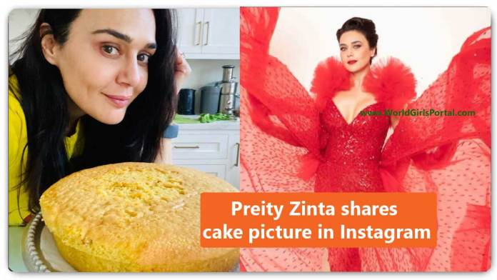 Preity Zinta shares cake picture in Instagram - Bollywood New Year News Dec 2020