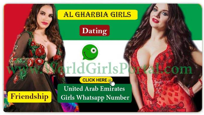 Al Gharbia Girls WhatsApp Numbers for Chat Online, Friendship, Housewives, College Girls in UAE