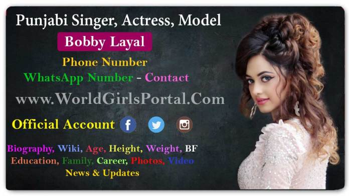 Bobby Layal Contact Details, Office Address, House, Email Id, WhatsApp - Biography World Girls Portal