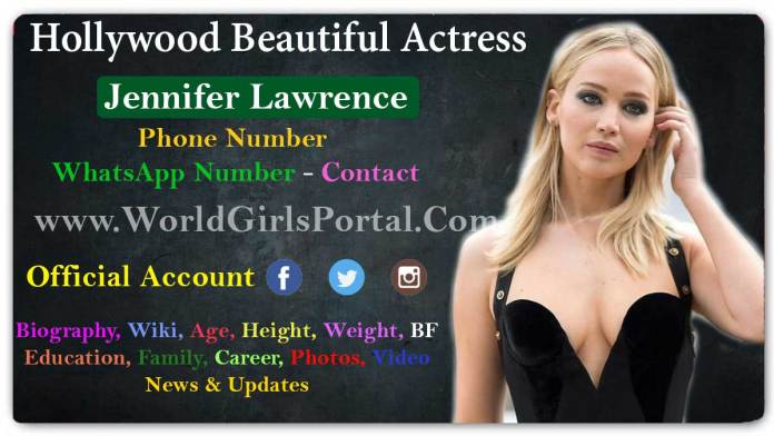 Jennifer Lawrence Biography Wiki Age Contact Details Photos Video Hollywood Girls Portal
