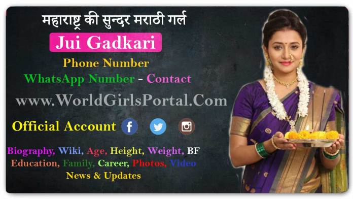 Marathi Model Jui Gadkari WhatsApp Number, Contact Details Email Home Address Bio-Data World Girls Portal