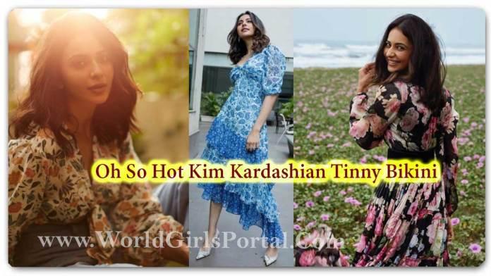 Rakul Preet Singh Looks gorgeous in floral printed maxi dress - Indian Most Cutest Actress Rakul Preet Singh Fashion - World South Indian Girls Portal