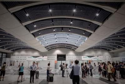 Repurposed: The former Kai Tak International Airport is now a oppulance journey terminal.
