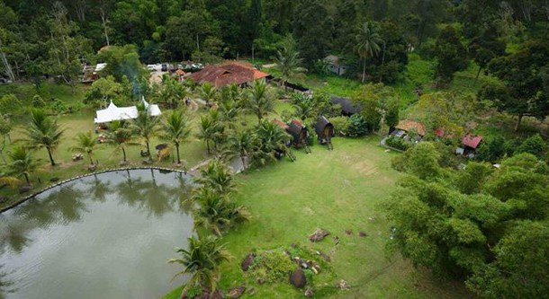 Chengal Hill Resort - Arial View