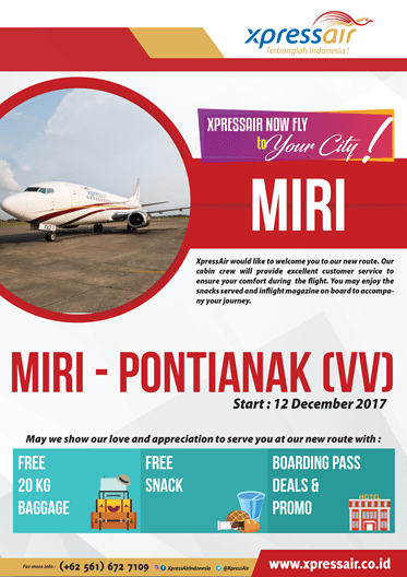 Pontianak-Miri Route Officially Launched