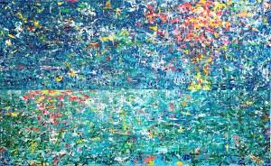 松田光一の世界遺産アート | 抽象画 世界の輝きを描く| 海の絵