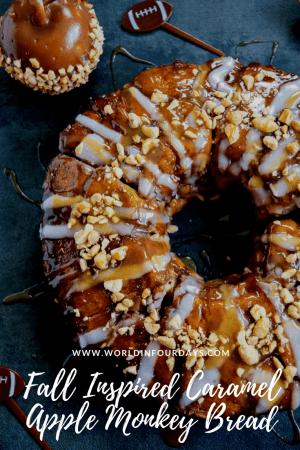 Fall Inspired Caramel Apple Monkey Bread