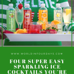 The Best Sparkling Ice Drink Recipes. | Sparkling Leprechaun Kiss Drink, Sparkling Sangria Tea, Sparkling Fruity Green Tea. We've got fun cocktail recipes for every occasion. Cherry Lime & Coconut Sparkling Ice Cocktails. 3 oz Malibu Coconut Rum. 3 oz of Cherry Lime Sparkling Ice. Splash of freshly squeezed lime juice. Crushed Ice. Garnish with a slice of lime. Refreshing Sparkling Ice Recipes