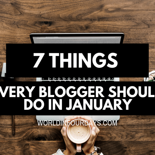 7 Things Every Blogger Should Do In January To Be Successful