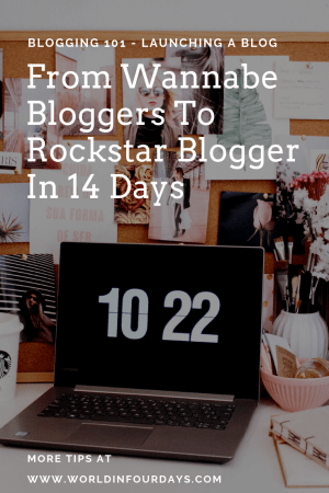 """If you're a newbie wannabe blogger and don't know where to start this """"From Wannabe Blogger to Rockstar Blogger in 14 Days"""" is the video for you. I walk you through step by step how to go from no blog to rockstar blogger in 14 days. Grab a glass of wine, and pull up a chair. You don't want to miss this information."""