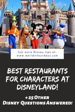 Can You Bring Food Into Disneyland | Character Dining Disneyland