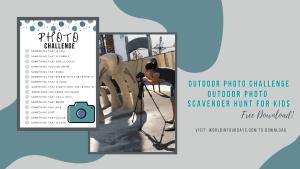 Free Outdoor Photo Scavenger Hunt Printable