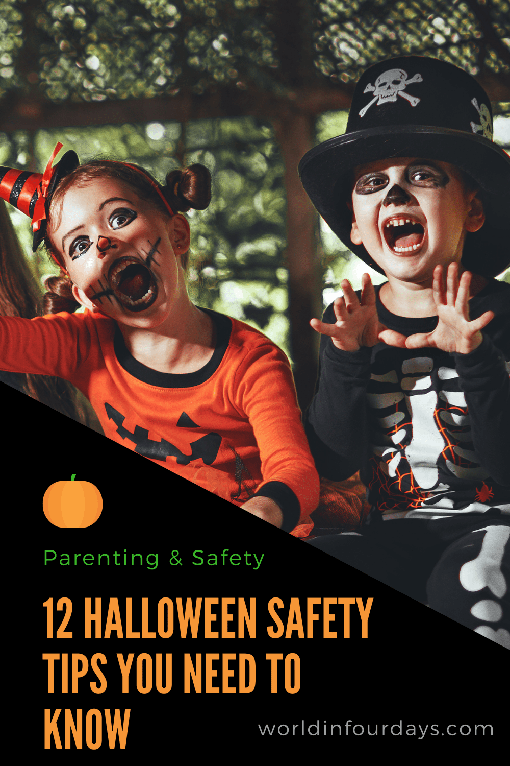 Is your family is ready to celebrate Halloween but you're also concerned about safety? Here are 12 Halloween Safety Tips You Need To Know to stay safe at home and on the streets this Halloween. #halloween #sefety #parenting