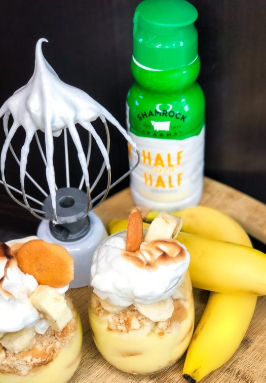 Spiked Banana Pudding With Swiss Meringue