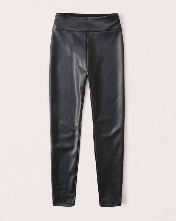 Vegan Leather Pants Abercrombie & Fitch