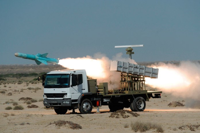 Firing_Noor_Missile_from_a_truck_launcher