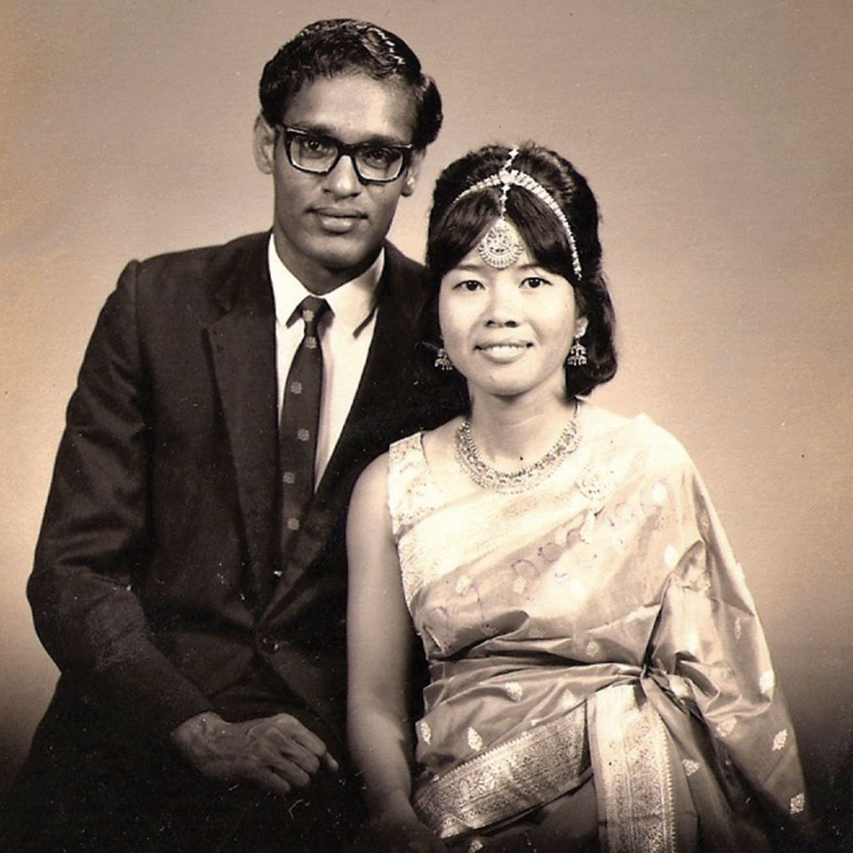 Engagement photo of Surinder Singh and Loh Siew Yoke (aka Jane Chauly), 1967. Before marriage, Surinder changed his name to Bernard Surinder Chauly.