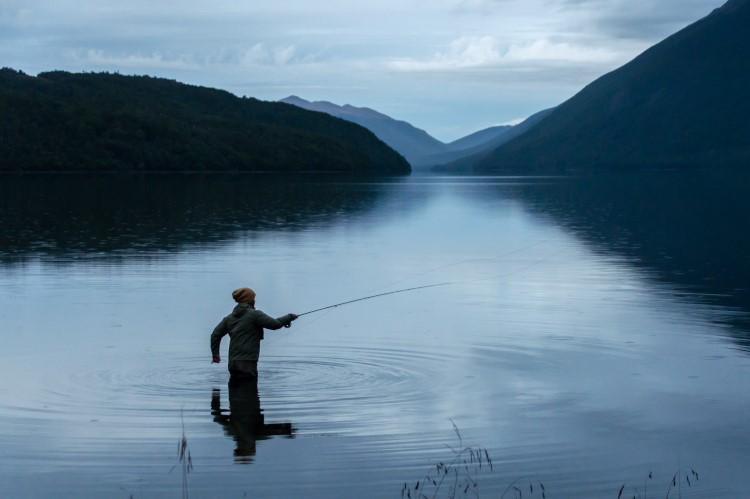 Fishing in Chilean Tierra del Fuego, Patagonia.