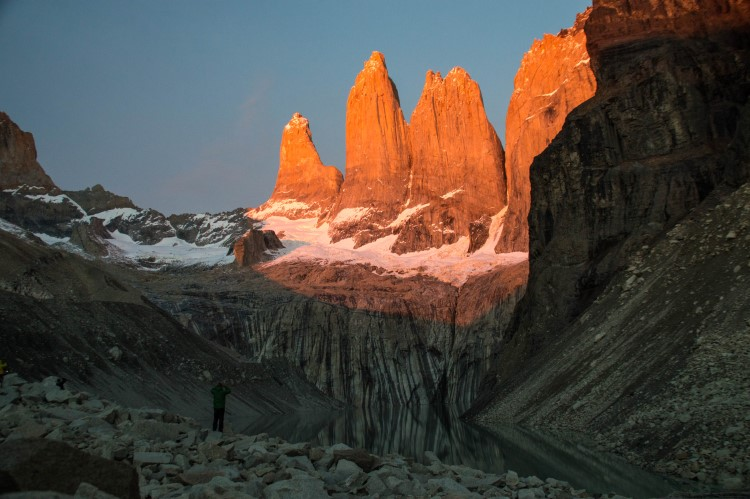 Travel to Patagonia to admire the magnificant Torres del Paine at dawn.