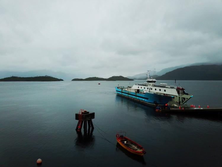 Puerto Eden and the Cruz Australis ferry from Puerto Natales to Puerto Eden.