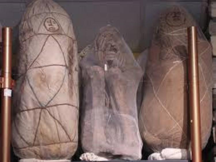 Mummies in the Museo de Leymebamba near Chachapoyas Peru