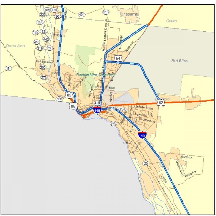 Texas Allen Streets Map
