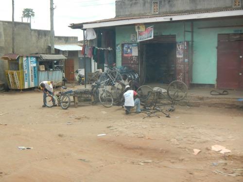 Common roadside storefront in Uganda.