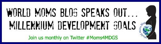 #Moms4MDGs Button copy