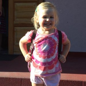 First day of pre-school in Poland
