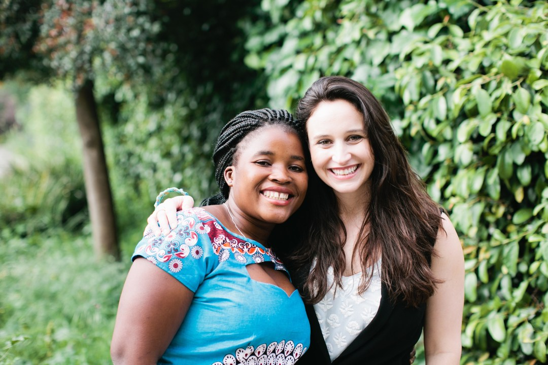 Percina and Elisabetta, two wonderful friends who met in a village in Mozambique while Elisabetta was a Peace Corps volunteer. Photo credit: Nicole Anderson of Sorella Muse Photography
