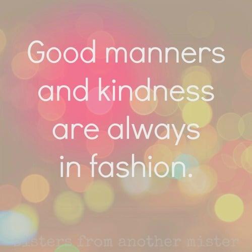 FLORIDA, USA: Good Manners & Kindness