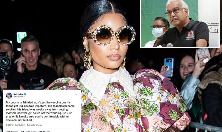 La afirmación de COVID-19 de 'testículos hinchados' de Nicki Minaj es falsa, dicen las autoridades de Trinidad